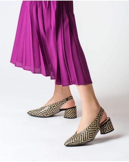 Wonders-Tacones-Zapato tacón piel trenzada