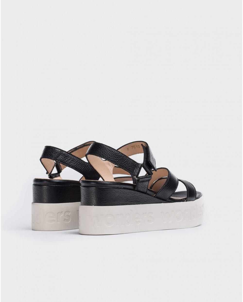 Wonders-Sandals-Platform sandal with logo