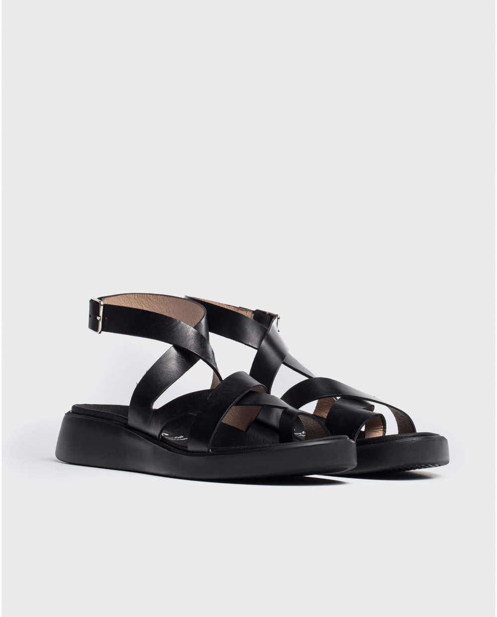 Wonders-Sandals-Leather toe post sandal