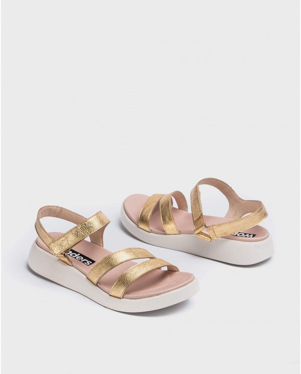 Wonders-Sandals-Leather sandal with strap
