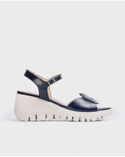 Wonders-Wedges-Geometric cut sandal