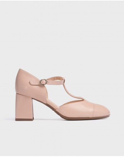 Wonders-Heels-T-Bar leather shoe