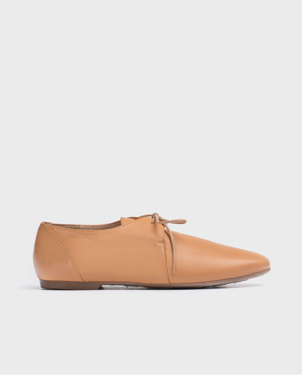 Wonders-Flat Shoes-Leather shoe with lace
