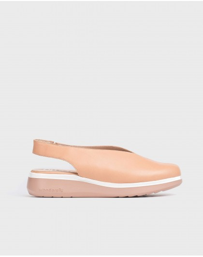 Wonders-Flat Shoes-Leather V cut shoe