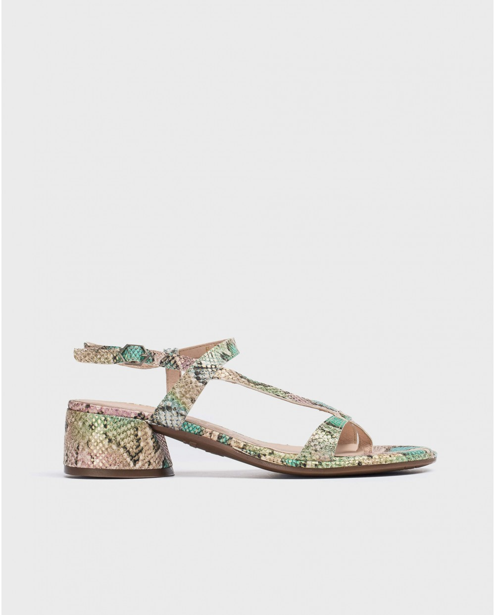 Wonders-Sandals-Sandal with toe post and heel