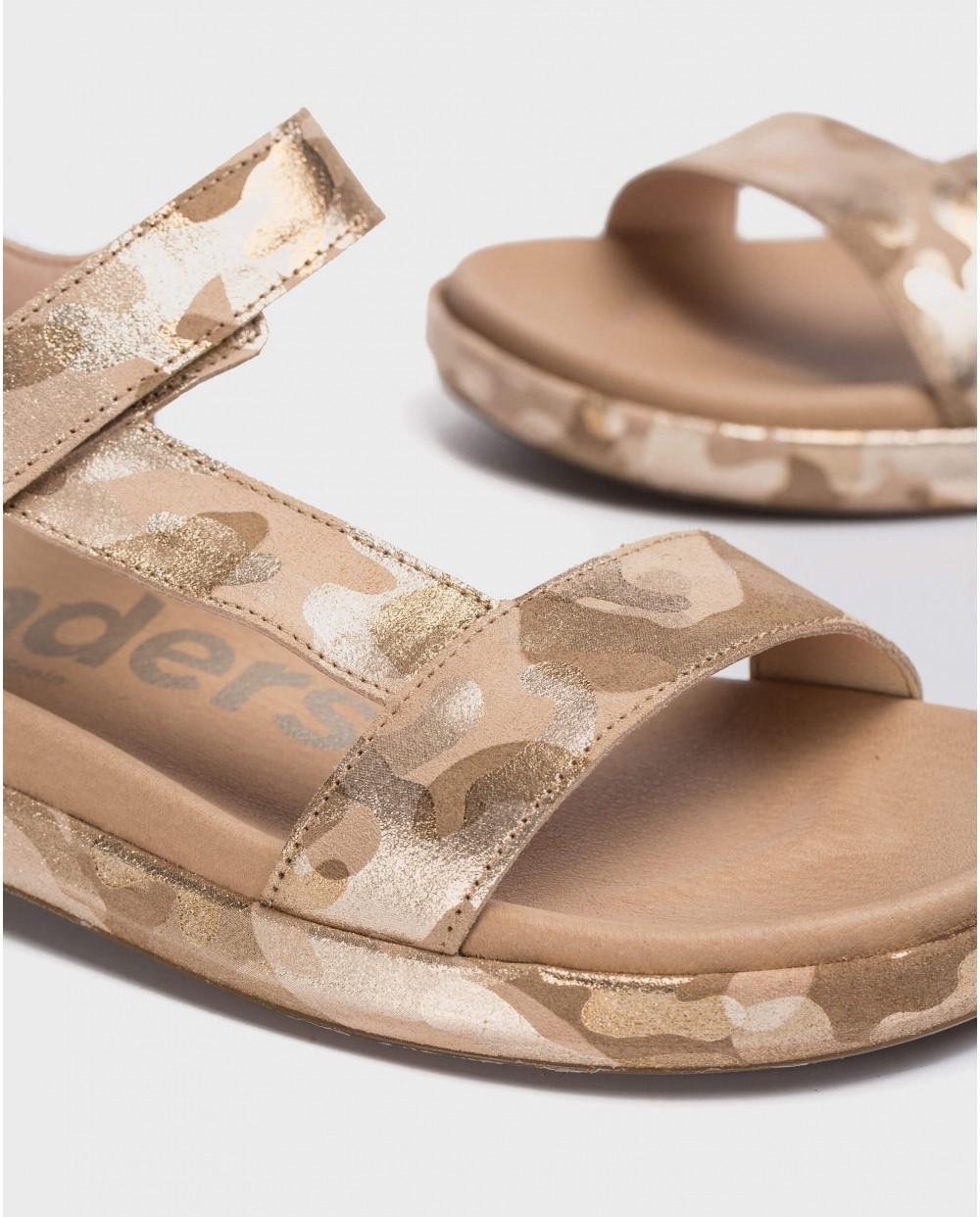 Wonders-Flat Shoes-Embossed BIO sandal