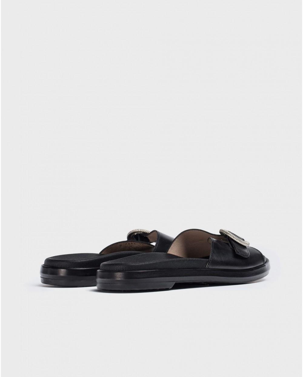 Wonders-Flat Shoes-BIO buckle sandal