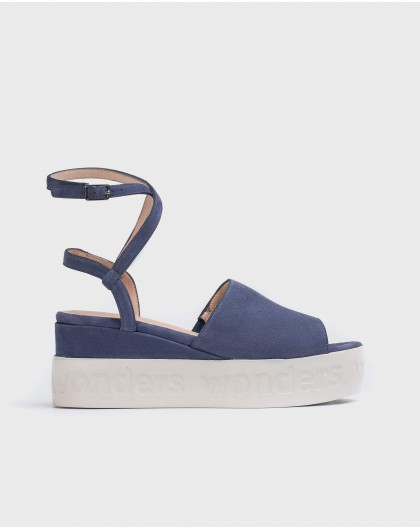 Wonders-Wedges-Sandal with double ankle strap
