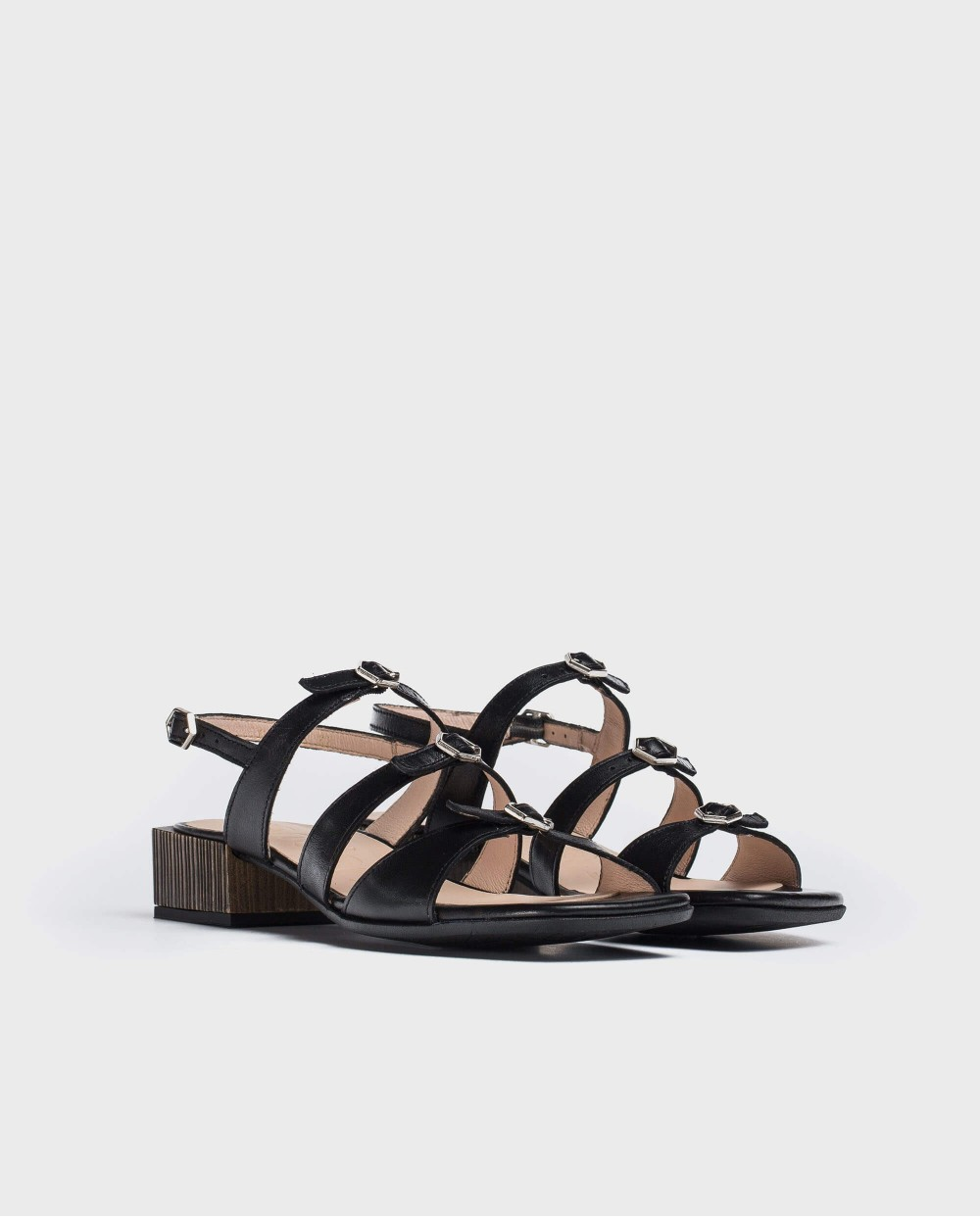 Wonders-Sandals-High heeled sandal with buckles