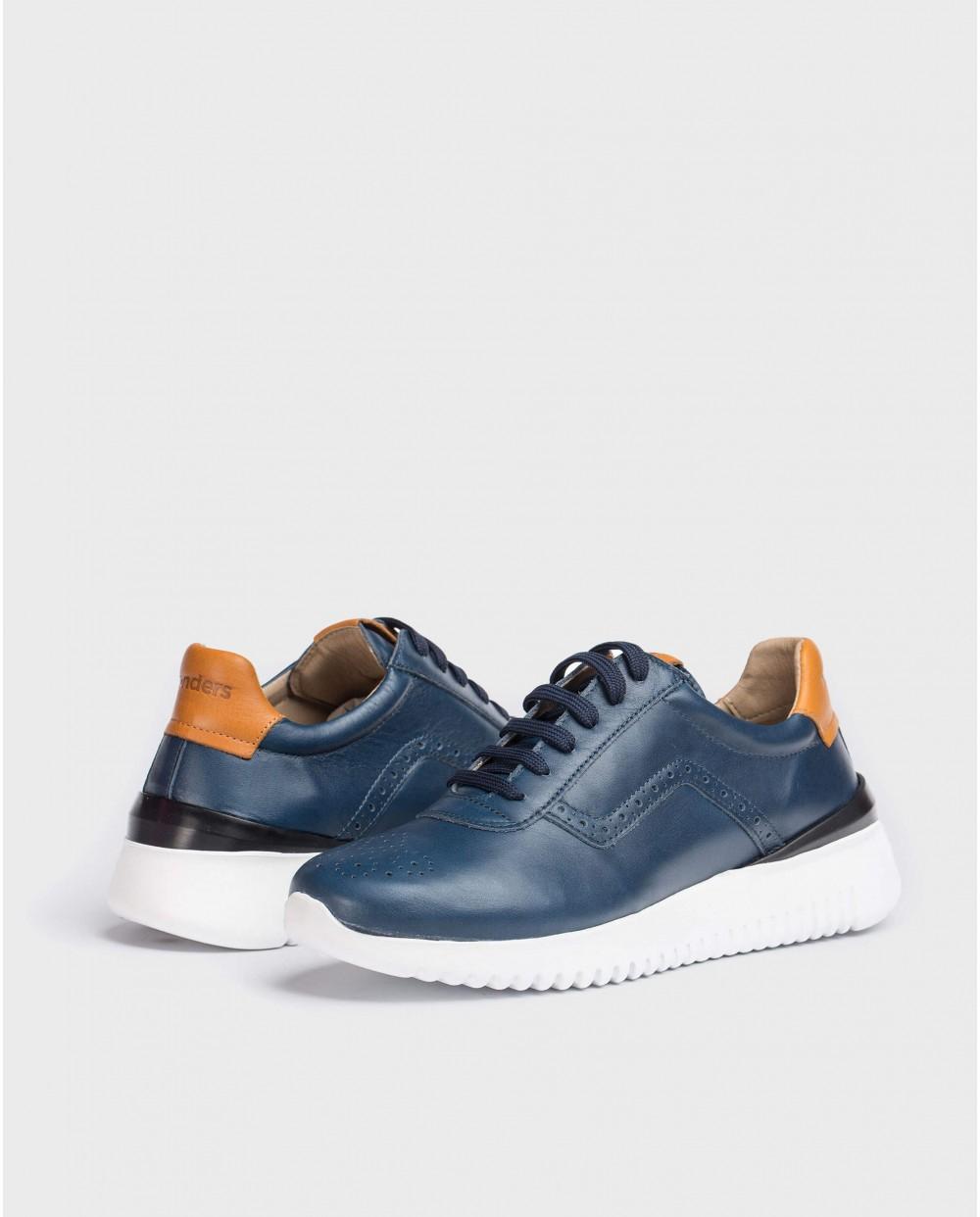 Wonders-Zapatos con cordones-Deportivo piel picado