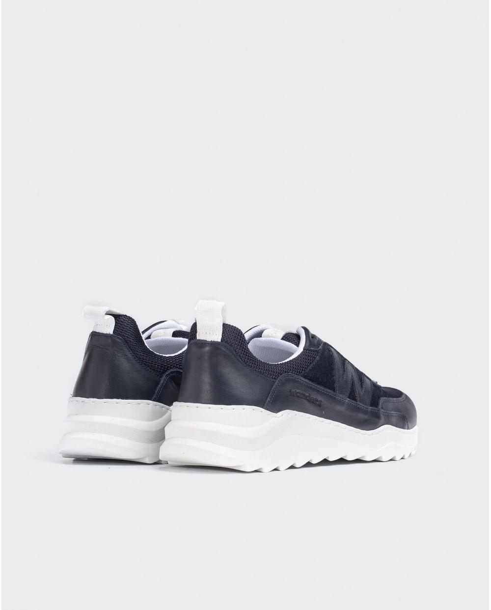 Wonders-Sneakers-Leather logo sneaker