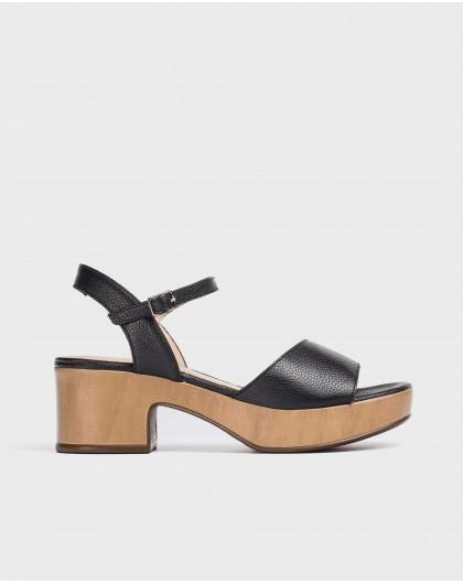 Wonders-Women-Leather platform sandal