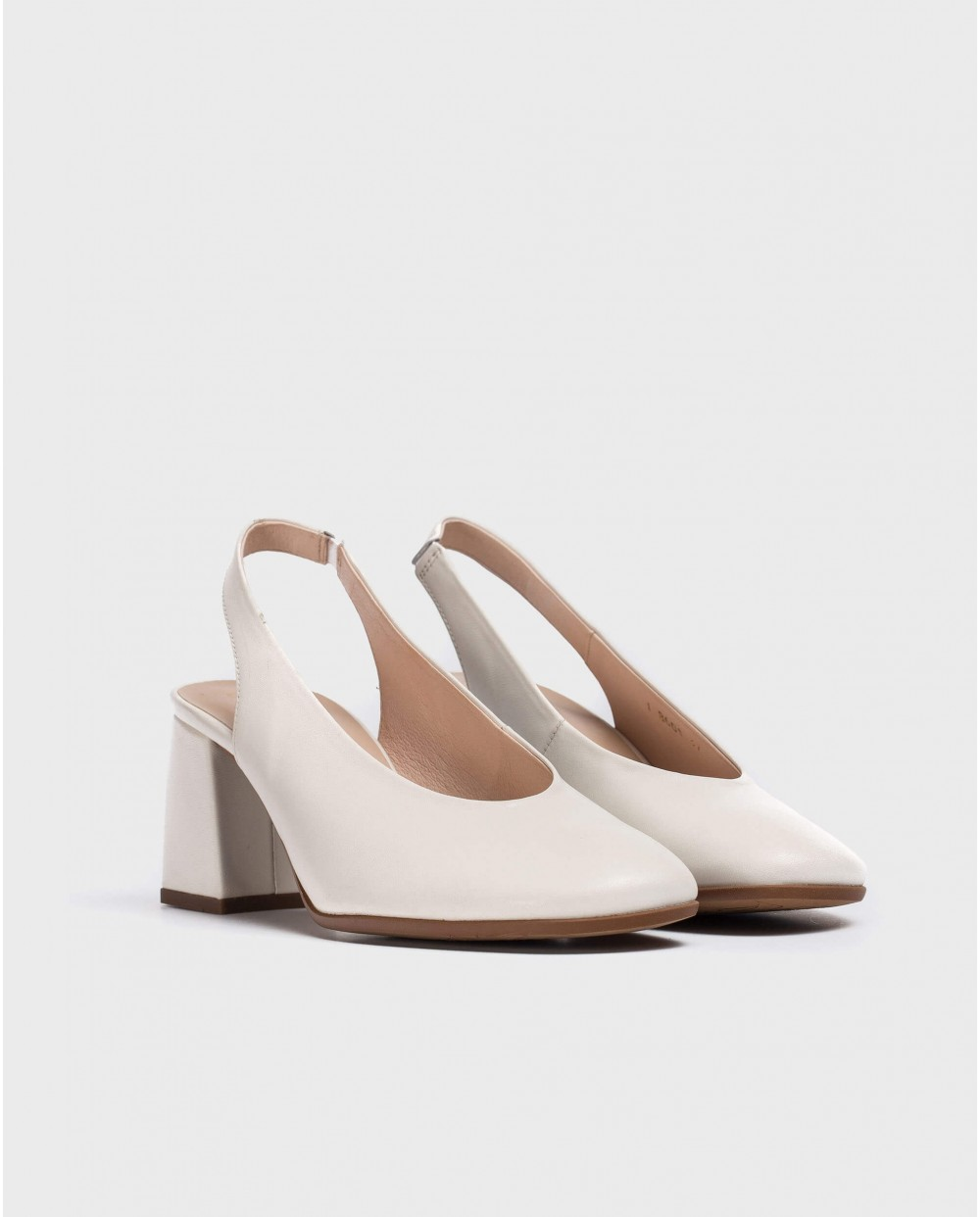 Wonders-Heels-Backless leather shoe