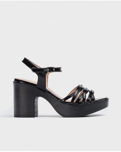 Plaited platform sandal