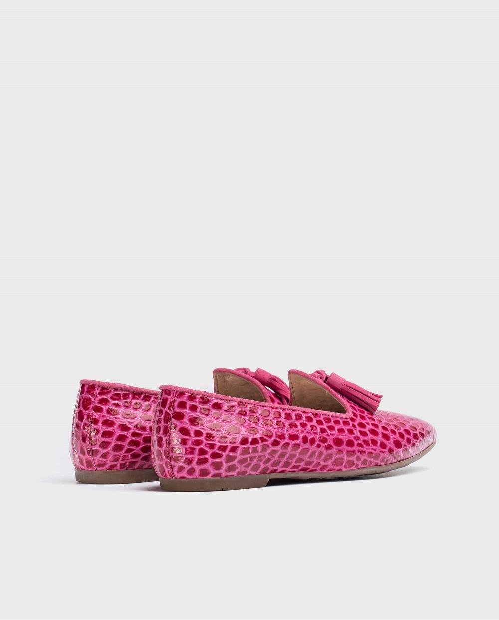 Wonders-Flat Shoes-Embossed leather slipper