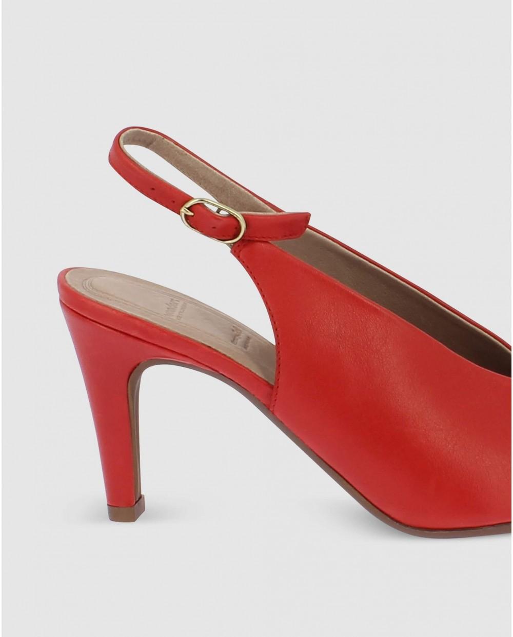 High cut open back court shoe