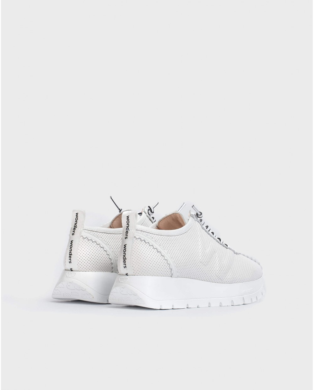 Wonders-Flat Shoes-Sneaker in perforated leather