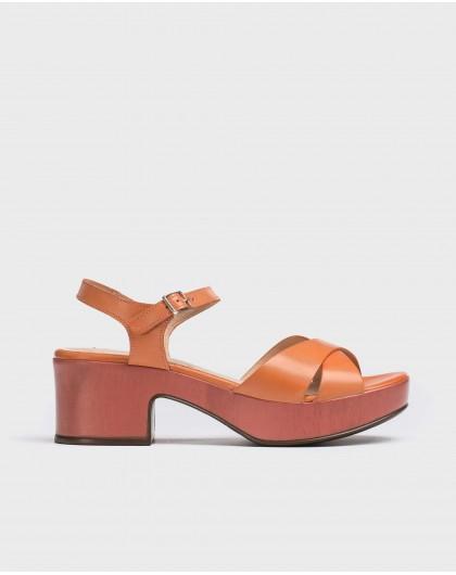 Wonders-Sandalias-Sandalia de piel con plataforma