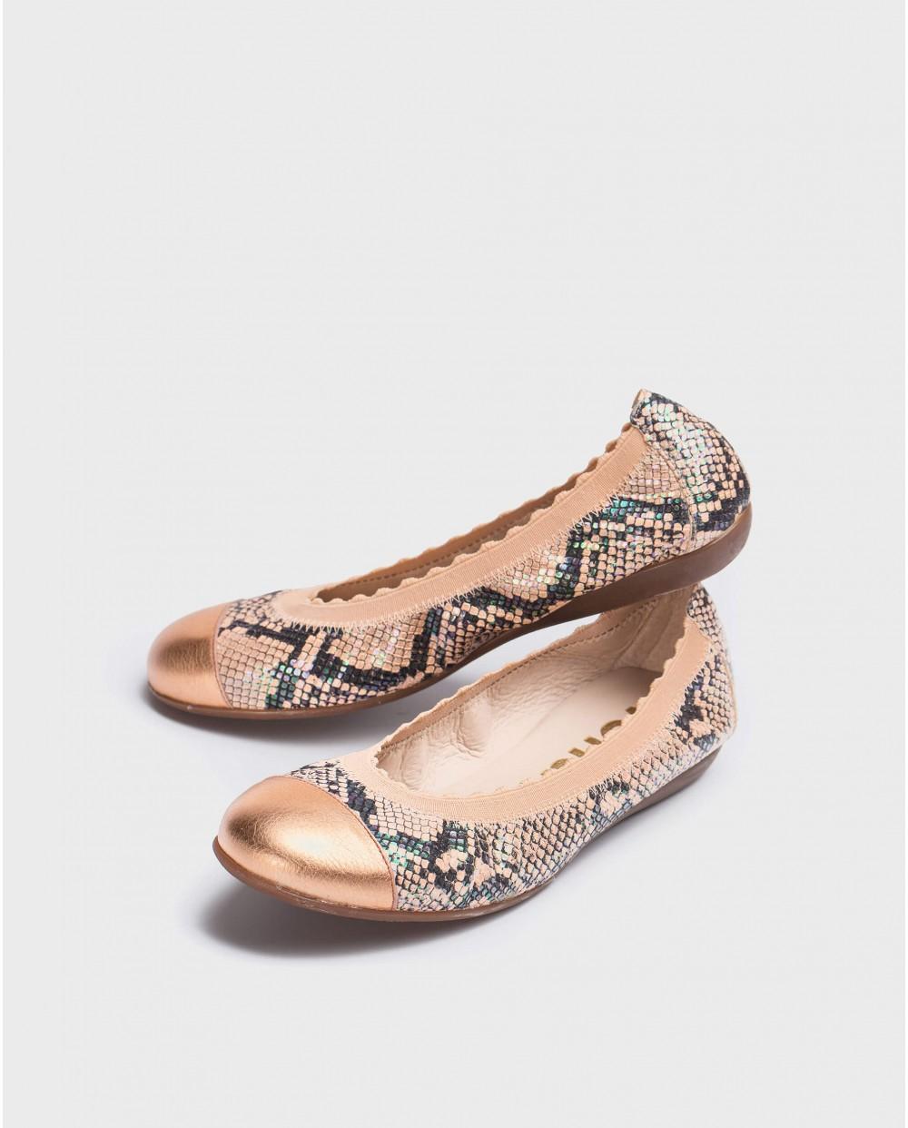 Wonders-Flat Shoes-Elastic ballerina