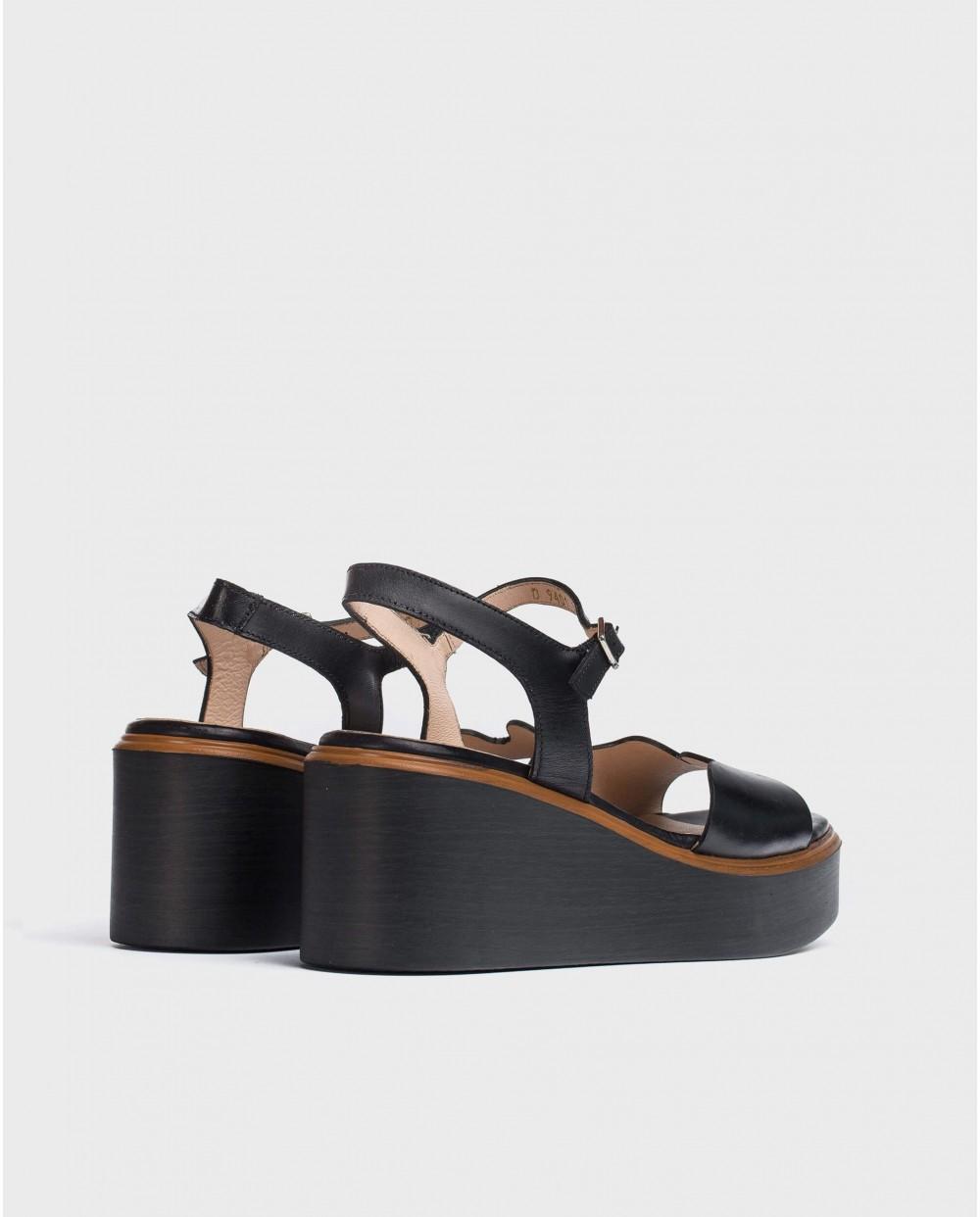 Wonders-Wedges-Wave platform sandal