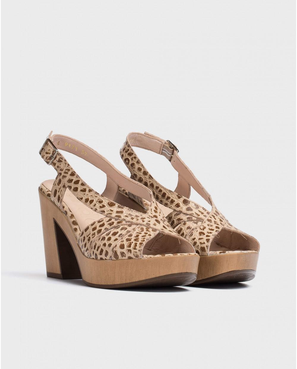 Wonders-Tacones-Sandalia plataforma peep-toes
