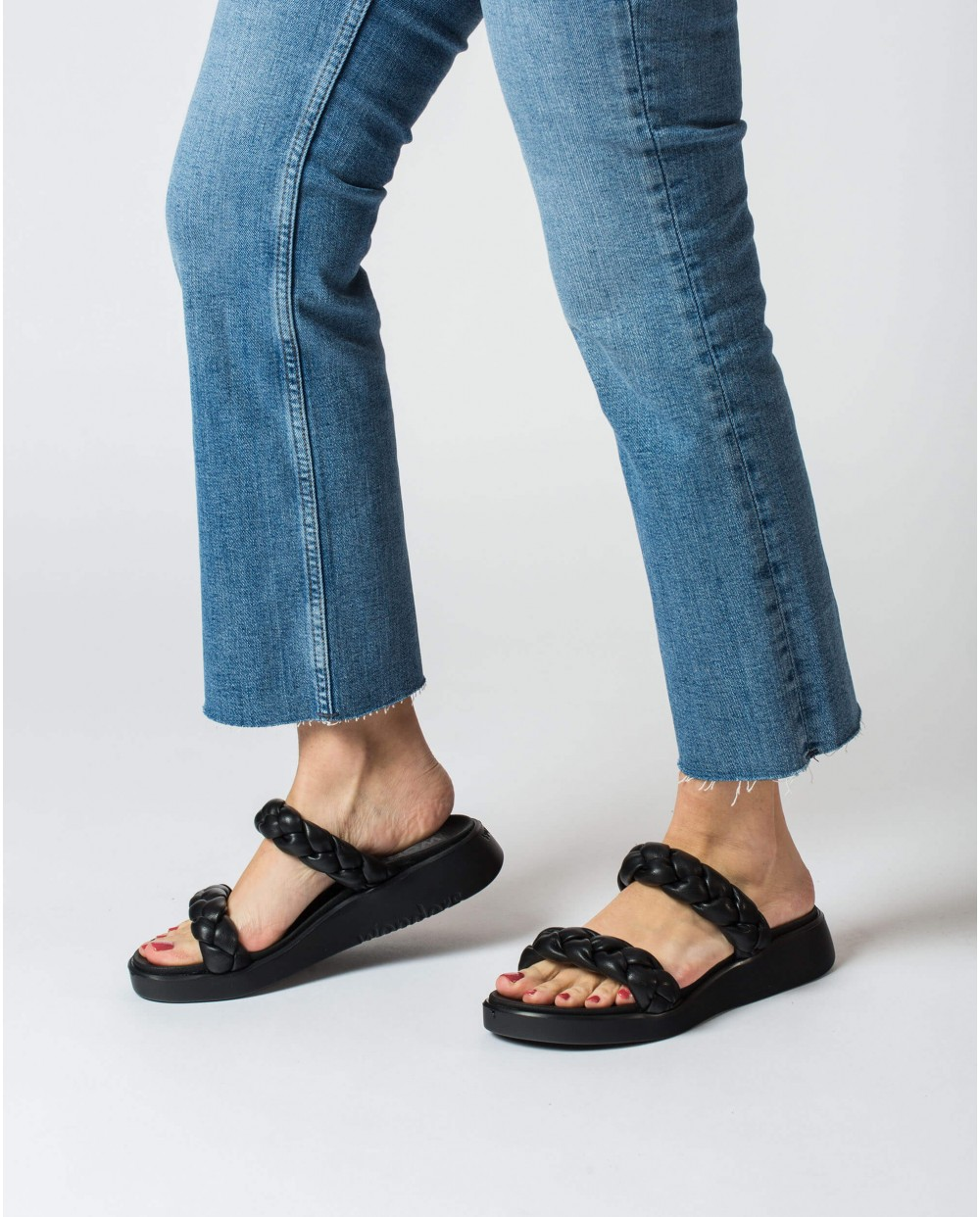 Wonders-Sandalias-sandalia trenzada acolchada