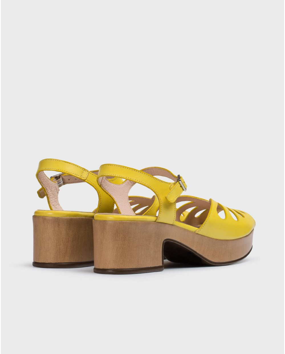 Wonders-Sandals-Perforated wedge sandal