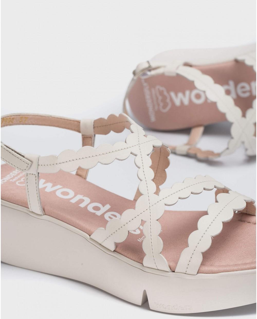 Wonders-Sandals-Wedge sandal with circles