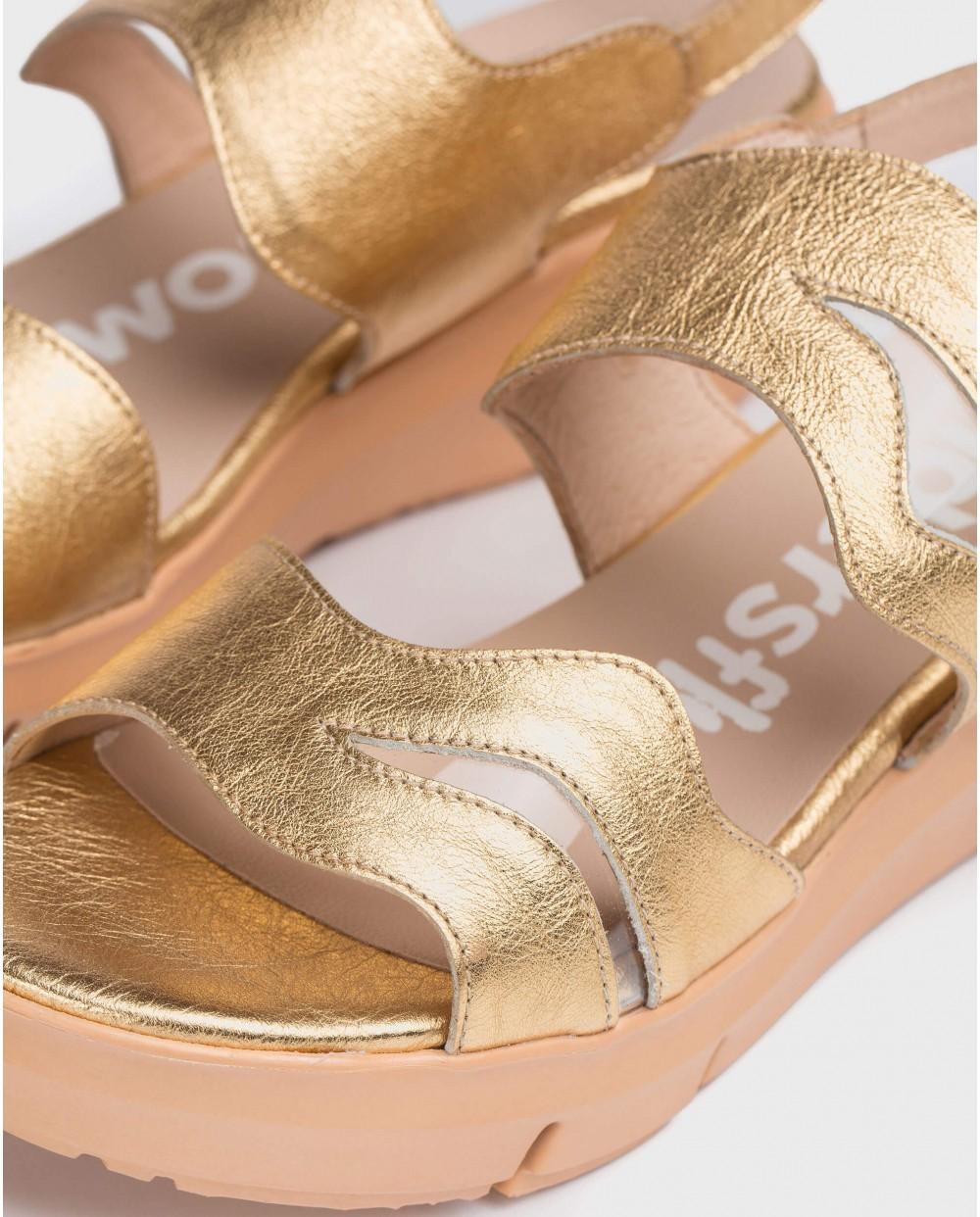 Wonders-Sandals-Metallic Vinyl sandal
