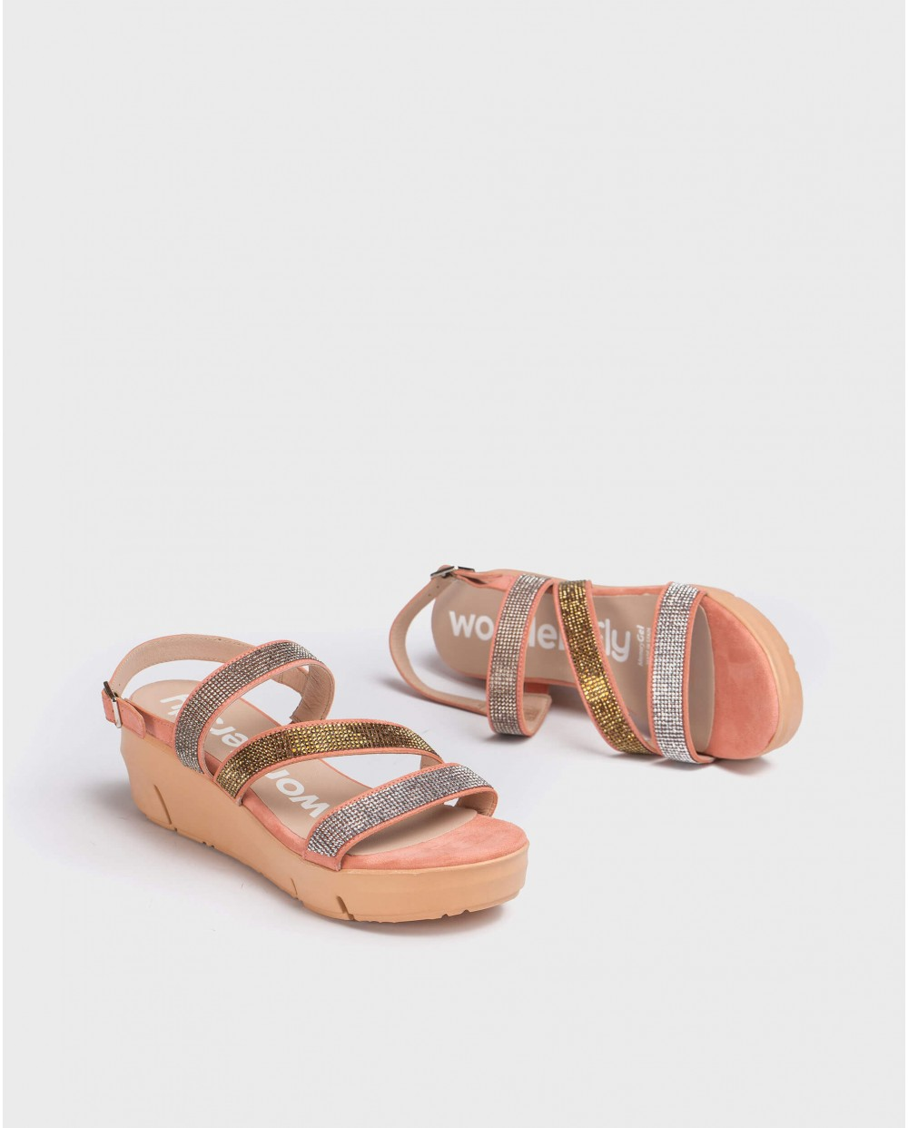 Wedge Rhinestone sandal