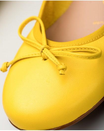 Wonders-Zapatos planos-Bailarinas de piel con detalle de lazo al tono