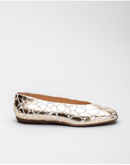 Wonders-Outlet-Zapato plano piel estampado animal