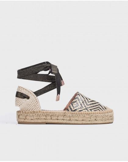 Wonders-Flat Shoes-Flat Jute sandal