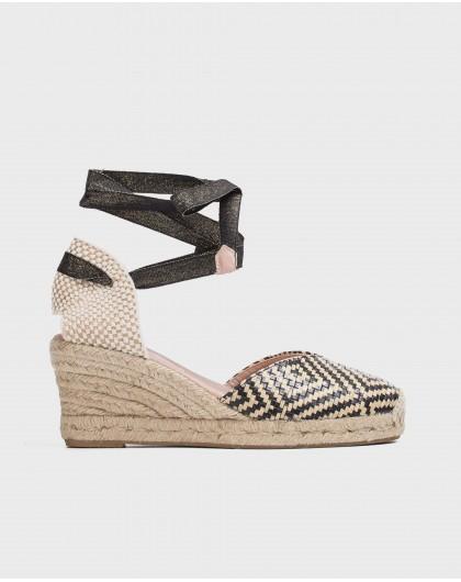 Wonders-Wedges-Jute Rhinestone sandal