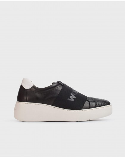 Wonders-Women-Leather sneaker with elastic band