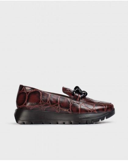 Wonders-Flat Shoes-Burgundy Sala Moccasin