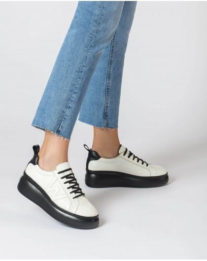 Wonders-Zapatos planos-Deportivas Dorita Blanco y Negro