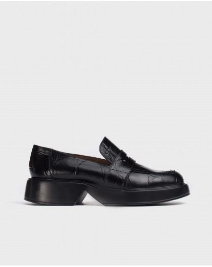 Wonders-Zapatos planos-Mocasín Hero Negro