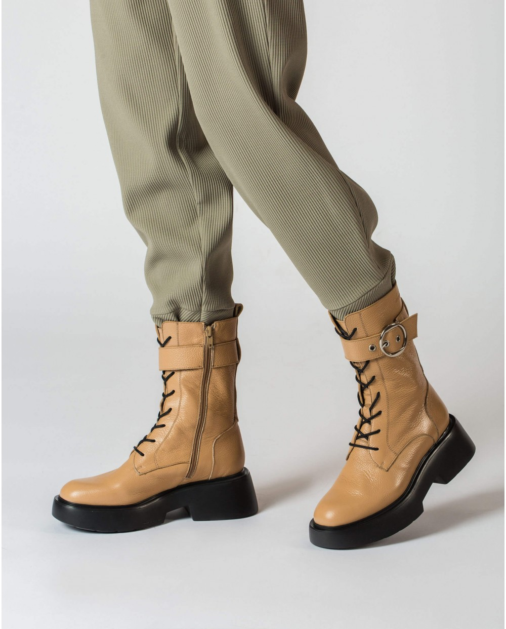 Wonders-Ankle Boots-Brown Punk Boot