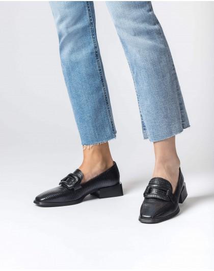 Wonders-Zapatos planos-Mocasín Luís XV Negro
