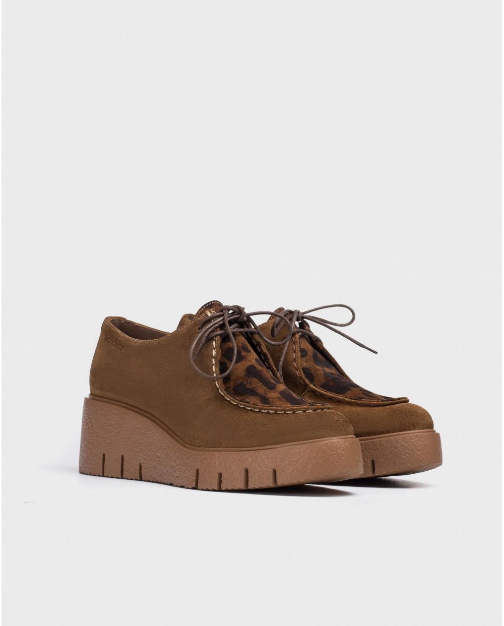 Wonders-Wedges-Brown Mood Shoes