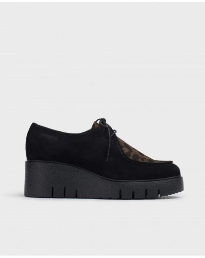 Wonders-Wedges-Black Mood Shoes