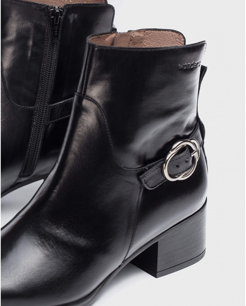 Wonders-Ankle Boots-Black Niza Ankle Boot