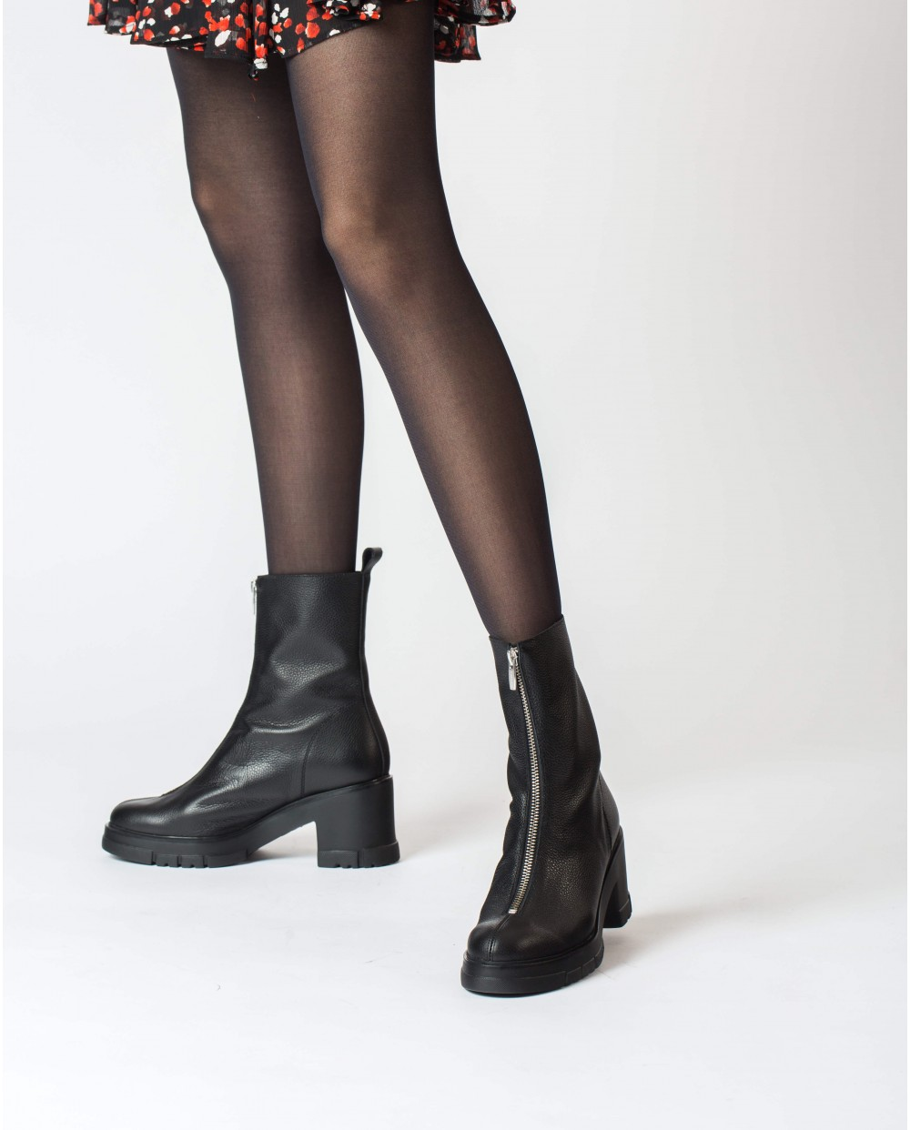Wonders-Ankle Boots-Black Harley Ankle Boot