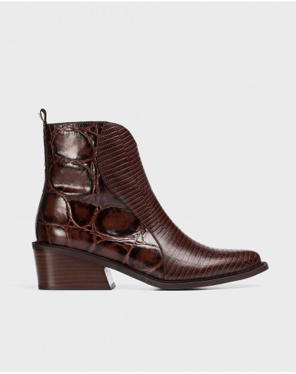 Wonders-Ankle Boots-Brown Sacramento Ankle Boot