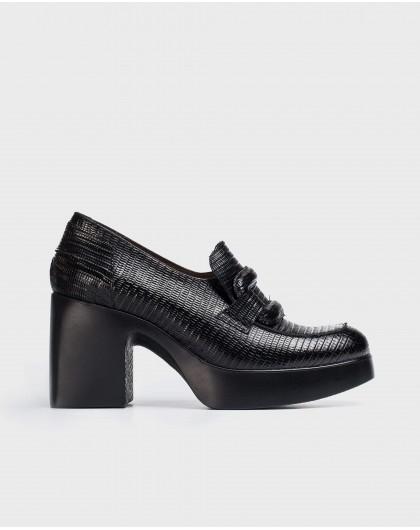 Wonders-Heels-Black Infly Moccasin