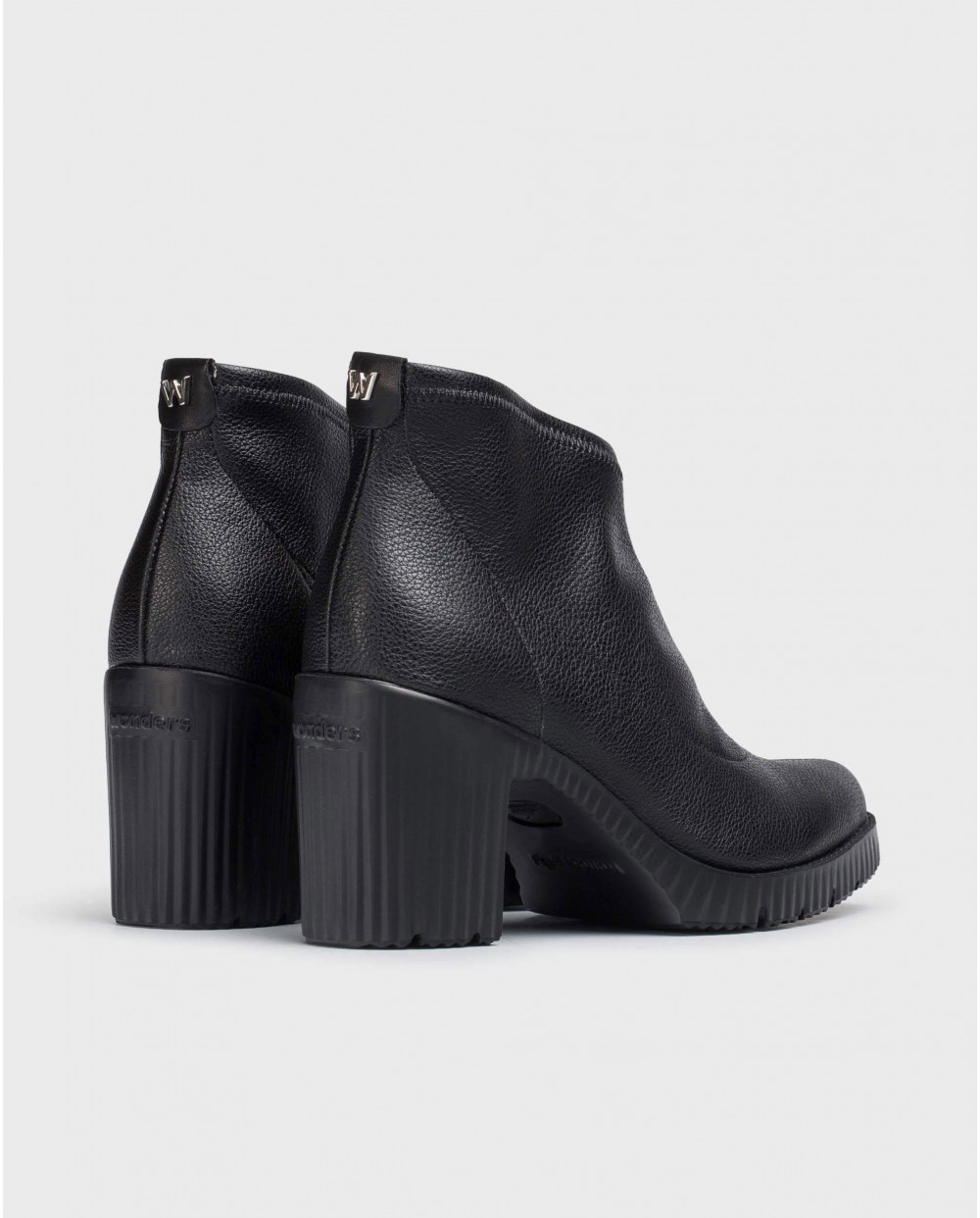 Wonders-Ankle Boots-Black Lycra Jess Ankle Boot