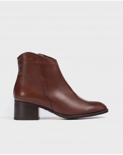 Wonders-Ankle Boots-Brown Easy Ankle Boot