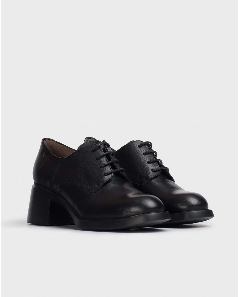 Wonders-Heels-Black Carlota Shoe