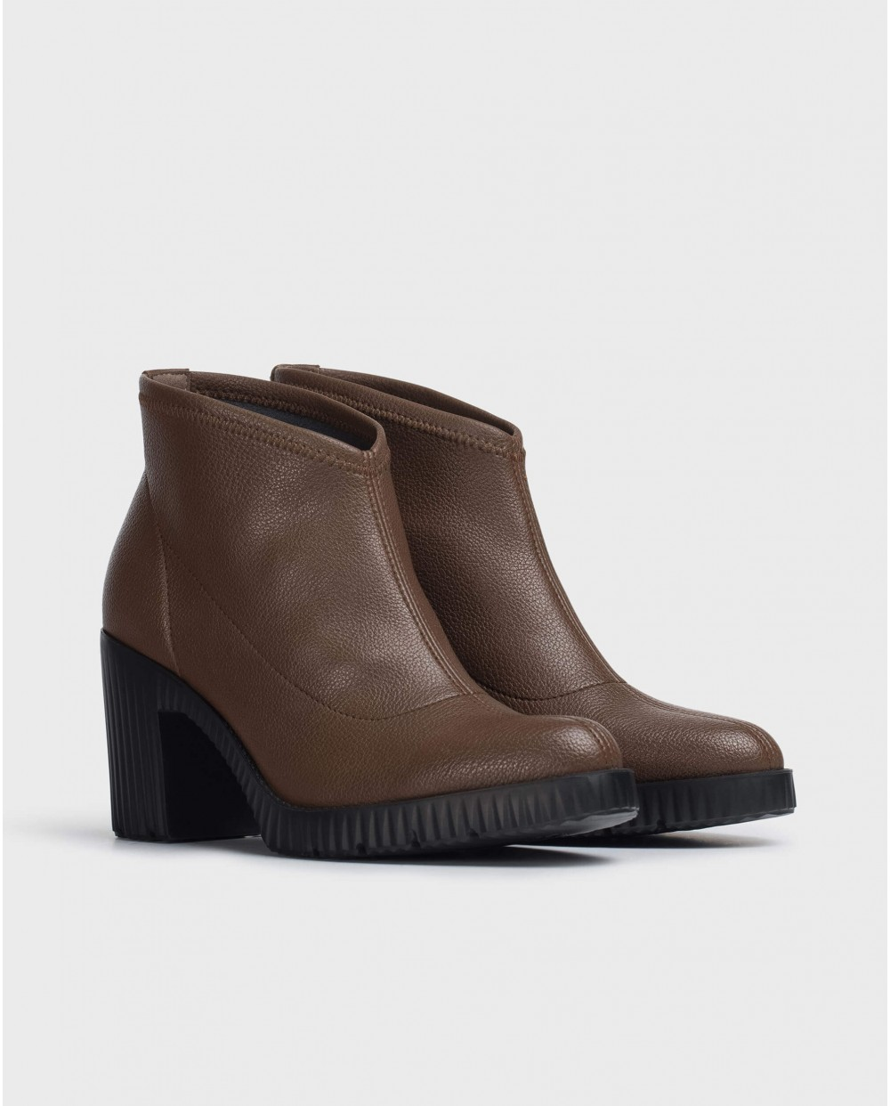 Wonders-Ankle Boots-Brown Lycra Jess Ankle Boot